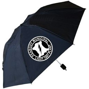 "Foldable Umbrella - 40"" Arc and Folds Into Compact 13"" (Black)"