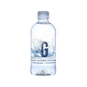 12 Oz. Custom Label Bottled Water in Recycled Plastic Bottle